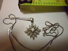 Starburst Diamond Pendant 1/5  carat set in 14kt Solid Gold
