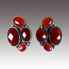 Jasper Carnelian Sterling Clip/Post Earrings Sale-Nwt Amy Kahn Russell Red