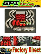 "2.25"" 57MM 12PCS Aluminum Universal Intercooler Turbo Piping pipe Kit +hose"