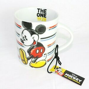 DISNEY Kaffeebecher * MICKEY MOUSE icon stri * Kaffeetasse Teetasse Pott Keramik