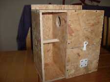 AVIARY NEST BOX WITH PORCH FOR BREEDING GRASS PARAKEETS - BOURKES, SPLENDIDS