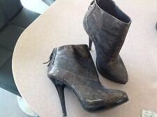Stunning Vintage Gold All saints Ankle Boots Sz 5 Ex Cond. Zip Up Back.