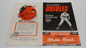 1965 Baltimore Orioles Washington Senators Gil Hodges Signed Program JSA LOA COA