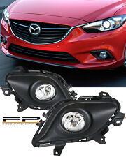 2014-2015 Mazda 6 Sport Sedan 4-Door Clear Bumper Driving Fog Light Complete Kit