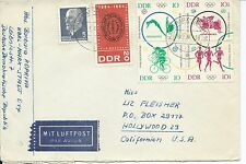 GERMANY-DDR  Sc# 711,713,B119,B120, 582,721 COVER CANC. KARL-MARX-STADT 6.9.64