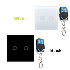 1/2/3 Gang Glass Panel Home 86 Wall Light Smart Touch Switch RF Remote Control
