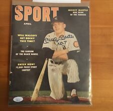 "Mickey Mantle Signed 1953 ""Sport Magazine Cover Inscribed No.7 JSA LOA autograph"