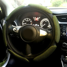 Army Green Automotive Breathable 3D Mesh Soft Car Steering Wheel Cover Standard