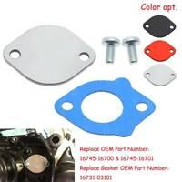 For Suzuki TM125 TM250 TM400 RM125 TC CNC Oil Pump Block Off Plate Gasket Silver