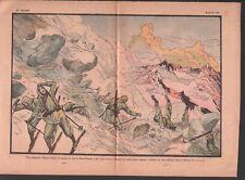 Avalanche Chasseurs Alpins Alpini Skis Haut-Piémont Italie 1932 ILLUSTRATION
