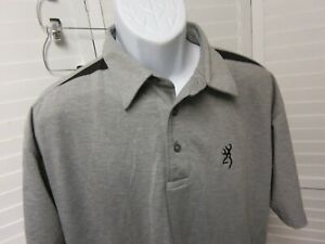 BROWNING SHORT SLEEVE GOLF POLO WITH LOGO'S LARGE