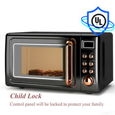 0.7Cu.ft  700W Retro Countertop Microwave Oven LED Display Glass Turntable New