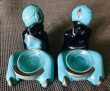 Vintage Nubian Chalkware 'Blackamoor' M/F Figurines