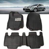 US Black Car Floor Mats Front Rear Liner Mat Waterproof For TOYOTA RAV4 2013-16