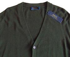 Men's POLO RALPH LAUREN Loden Green Wool Cardigan Sweater X-Large XL NWT NEW