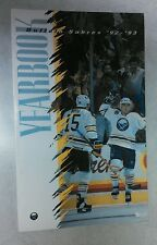 Vintage Hockey 1992-93 BUFFALO SABRES Media Guide Rare NHL