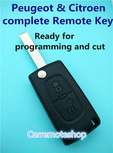Citroen C2 C3 C4  2 Button complete  Remote Flip Key with Electronics and chip
