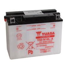 Batterie Moto YUASA Y50-N18L-A 12v 21.1AH 240A  205X90X162MM ACIDE OFFERT