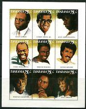 TANZANIA 1992 BLACK ENTERTAINERS - BOB MARLEY - WHITNEY HOUSTON - TINA TURNER!