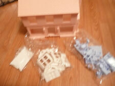 VINTAGE NEW PINK HOUSE TOY STREET CO. BLUE FURNITURE OLD RARE HTF FOLD DOWN +PCS