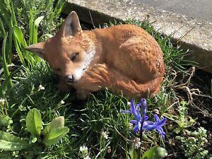 Fox Cub Sleeping Fox Cub Home or Garden Decoration Baby Fox resin