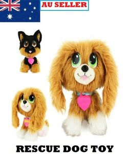 Rescue Stray Dog Plush Puppy Pet Doll Stuffed Interactive Soft Toy For Kids