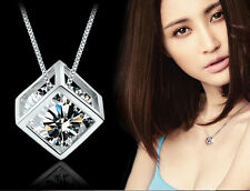 Hot Love 1 PC Silver Fashion Magic Cube Necklace Pendant Chain Vogue Cheap