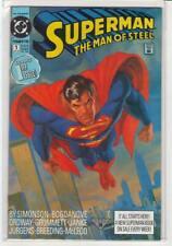 Superman: The Man of Steel #1 painted cover Dan Jurgens Walter Simonson 9.6