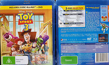 TOY STORY 3 Blu-Ray REGION A,B,C + DVD R4 PAL oz seller 3-DISC Disney Pixar