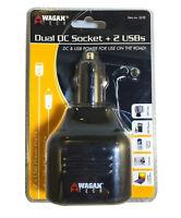 Wagan Dual DC Socket + 2 USB Ports Traveler's Power Adapter - 12V DC - 2638