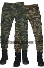 Pantalone uomo Cargo militare mimetico Jeans tasconi multitasche slim nuovo 329