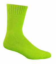 3 X Pair 92 Bamboo Work Socks Extra Thick All Sizes All Colours BT Post Mens 6-10 Womens 8-11 Hivis Lime