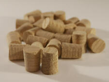 "European Oak Hardwood Plugs 8mm, 10mm, 12mm & 1/2""(12.7mm) -  Tapered Pellets"