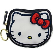$17 Hello Kitty Sequins Bow Coin Bag (white / red)