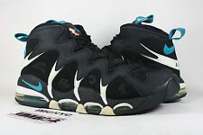 NIKE AIR MAX CB34 USED SIZE 10.5 CHARLES BARKLEY BLACK GLASS SILVER 414243 001