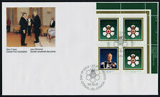 Canada 1447b TR Plate Block on FDC - Order of Canada, Roland Michener