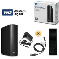 Western Digital WD Elements Desktop Hard Drive 2tb USB 3.0 Wdbwlg0020hbk-eesn