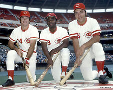 JOHNNY BENCH PETE ROSE AND GEORGE FOSTER CLASSIC IN DECK CINCINNATI REDS CIRCLE