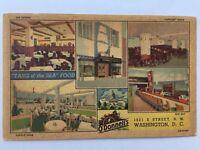 Washington DC O'Donnell's Sea Grill Restaurant Vintage Postcard A35