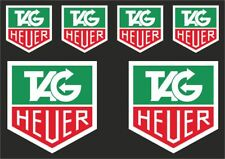 TAG HEUER Motorcyle Car Classic Decal Sticker Graphic Set Vinyl Adhesive 6 Pcs