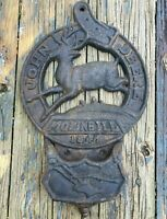 Vintage John Deere Cast Iron Mail Box, Sign, Plague, Shed, Barn 1847 Moline ILL