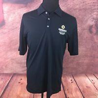 Nike Golf Mens Dri Fit Black Polo Shirt Size Medium Sunbelt Rentals