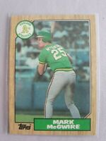 1987 Topps Mark McGwire #366 Baseball Card Oakland Athletics Mint!! Gold Cup ⚾️