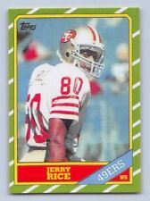 "1986  JERRY RICE  - Topps ""ROOKIE REPRINT"" Football Card - # 161 - S.F. 49ERS"