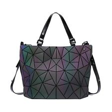 Laser Luminous Geometric Diamond Tote Women's Shoulder Bag Handbag High-Capacity