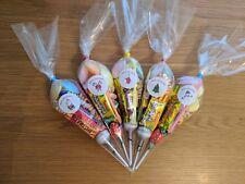 5 x Christmas Eve Retro Cones - Filled Retro Sweet Cones Kids Stocking Fillers