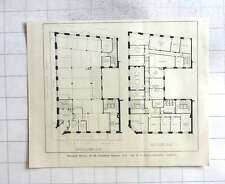 1927 Ground And First Floor Plans, Maypole House 27 To 28 Finsbury Square