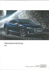 AUDI A5 / S5 Coupe / Sportback  Betriebsanleitung 2016 2017 A5 Sb g-tron BA