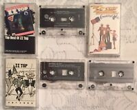 Lot of 3 ZZ Top, Best of,  Antenna, Greatest Hits Vintage Cassette Tapes Tested