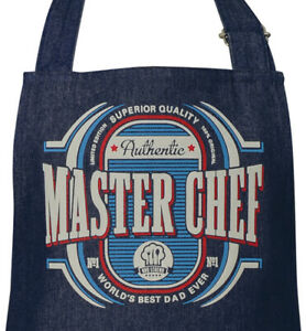 Mens Master Chef Denim BBQ Apron | One Size Fits Most